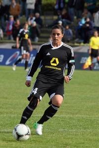 Ali Krieger saat masih memperkuat FFC Frankfurt