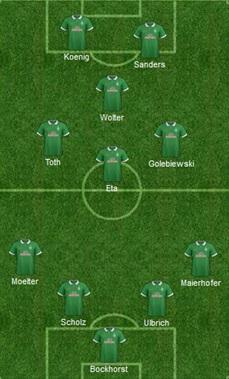 line up Werder