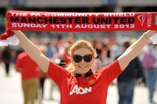A-Manchester-United-fan-shows-her-support-before-the-Community-Shield-at-Wembley-Stadium-London