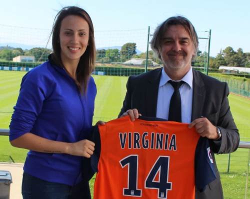 Virginia Torrecilla saat bergabung dengan Montpellier